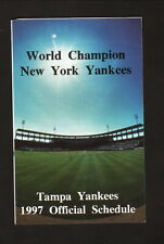 Tampa Yankees--1997 Pocket Schedule--with NY Yankees Spring Training--Marriott