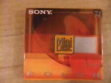 Sony Couleur (Jaune) Mini Disc/MDW74CRY enregistrable. Antichoc. NEUF!