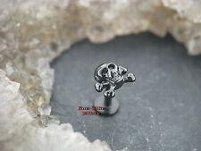 Piercing oreja Tragus motivo calavera Skull 1,2mm labret pendientes mejilla labio