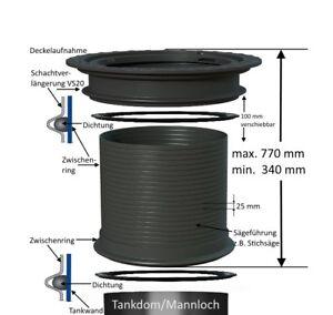 Vario-Schachtverlängerung MIDI, Tankschacht Zisternenschacht Höhe bis 77 cm