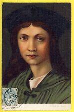 cpa Dos 1900 PORTRAIT du Peintre ANDREA DEL SARTO style Tableau Coup de Pinceau