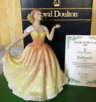 ROYAL DOULTON LADY FIGURE DEBORAH HN 3644 YELLOW DRESS BOXED WITH CERT PERFECT
