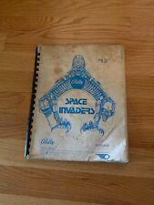 Space Invaders Pinball Game Manual, Bally 1980