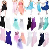 Girls Kids Tutu Ballet Leotard Dress Latin Ballerina Unitard Dance wear Costume