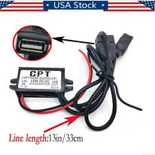 NEW  Car 12V to DC 5V 3A 15W Hard Wired Dual USB Charger for