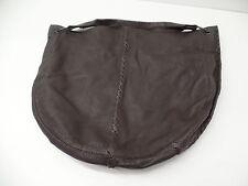 Bottega Veneta Titanium Waxed Cervo Leather Large Loop Hobo Bag Brown