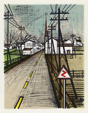 """Super BERNARD BUFFET 1967 Color Lithograph """"The Road to Home"""" GALLERY FRAMED COA"""
