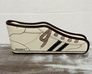 Sunny Vtg '70s Tan Brown Vinyl Sneaker Shaped Pencil Case. *Never Used* Original