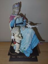 Duncan Royale Calendar Secrets February Figurine Lady w/ Cupid Purity Statue 11""