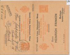 LM74250 Spain to Germany postal stationery fine postcard used