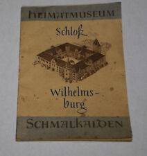 Broschur, Heimatmuseum Schloß Wilhelmsburg Schmalkalden, DDR 1958 mit Einleger