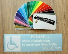 Allow Enough Room To Open Door Disabled Car Badge Sticker Vinyl Decal Adhesive W