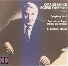 Charles Munch Boston Symphony: Symphony, No. 3, Concerto for Organ, Strings and