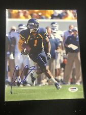 🔥Tavon Austin AUTOGRAPHED 8x10 PHOTO WVU West Virginia Mountaineers PSA DNA 🔥