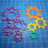 Cogs Gear Shape Cookie Fondant Cutter 4cm 5cm 7cm 10cm Set Kids Cake Decorating