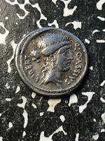 (55 BC) Ancient Rome Q. Cassius Longinus AR Denarius Lot#JM852 Crawford 428/2
