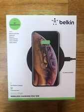 Belkin Qi Enabled Wireless Charger Pad 10W Charging Apple Samsung LG, Sony HTC