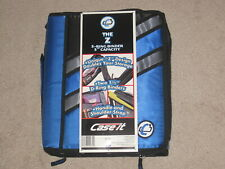 Nwt Case It The Z 2 In 1 Zipper 3 Ring Binder 3 Capacity Blue Z 176