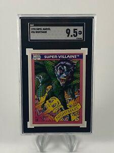 1990 Impel Marvel Universe NIGHTMARE RC Series 1 SGC 9.5 comp to PSA Disney+