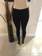 NEW Victorias Secret PINK Ultimate Stirrup Leggings S Black Mesh Sheer