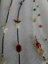 MULTI COLOR GLASS SEED BEAD NECKLACE & BRACELET LOT-VINTAGE TO NOW~ Strand