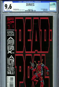 Deadpool #1 (1993) Marvel CGC 9.6 White Circle Chase 1st Solo Series!