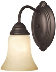 Westinghouse Wall Light Fixture 6.1 In.X8.3 In.X9.3 In. Bronze,Glass
