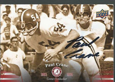 Alabama Crimson Tide PAUL CRANE Signed Card