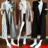 Womens Hoodie Knitted Long Sweater Cardigan Coats Outwear Overcoat