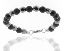 Bracelet pour Hommes Onyx Noir Boule D'Hématite de Perles Storch Schmuck