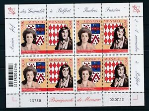 [G27870] Monaco 2012 royalty good sheet very fine MNH
