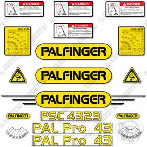 Palfinger PSC4329 Decal Kit Crane Truck - Warning Stickers - 3M Vinyl!