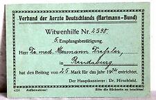 Verband der Aerzte Deutschlands (Hartmann-Bund) - WITWENHILFE 1924