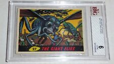 1962 Mars Attacks Topps Bubbles Card The Giant Flies #27 BVG 6 Like PSA BGS War
