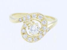 Vintage anillo 0,65 quilates brillante 585 Gold 14 quilates alemania para 1970