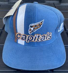 NWT Vintage 90s Washington Capitals Logo Athletic Strapback Hat Cap NHL