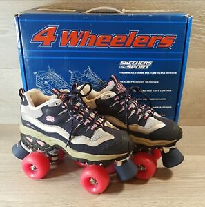Roller Skates 4 Wheelers Skechers 1910NVHP Size 8M Womens Hot Pink Navy w/ Box