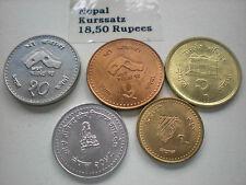 Nepal  -   5  x  18,50   Rupees  je   5 Werte   unc.
