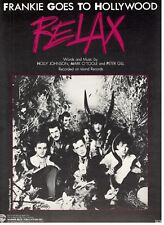 "FRANKIE GOES TO HOLLYWOOD ""RELAX"" SHEET MUSIC-PIANO/VOCAL/GUITAR/CHORDS-1984-NEW"