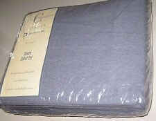 Old Stock Vintage NIP Blue Percale QUEEN Size SHEET SET Made in USA by Dan River