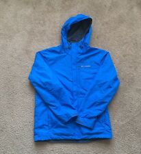 Columbia Ventilated Rain Snow Ski Jacket Coat Blue Grey White Winter Insulated