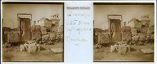 Athènes Cimetière de Céramique Grèce Stereo Sartiaux 45x107mm Plaque pos ca 1911