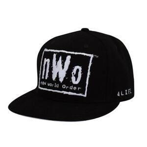 "WWE NWO ""4 LIFE"" SNAPBACK CAP HAT OFFICIAL NEW WCW"
