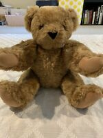 "AUTHENTIC VERMONT TEDDY BEAR NO.1 MADE USA FULLED JOINTED 16"" GUARANTEED 4 LIFE"