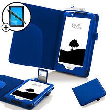 Pelle Blu custodia con luce LED Amazon Kindle 2016 Proteggischermo & Stilo