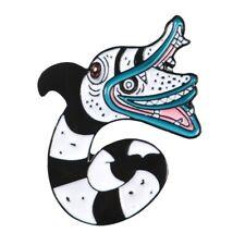 Beetlejuice Sand Worm Snake Lapel Pin Animal Enamel Badge Brooch for Bags Hats