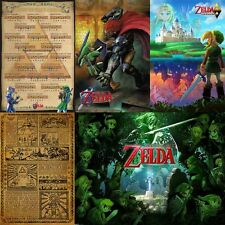 "Set of 5 Nintendo The Legend of Zelda Posters (24 x 36"") Ocarina Link Wind Waker"