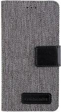 COMMANDER BOOK CASE Dress Grey Handy Tasche Cover Huawei P8 Lite Grau Schwarz