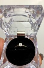 White gold 18K diamond solitaire Birks engagement ring ladies