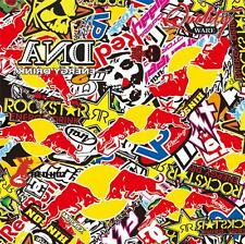 Energy Drinks Stickerbomb Vinyl Wrap - Air Free - 6 x A4 Sheets